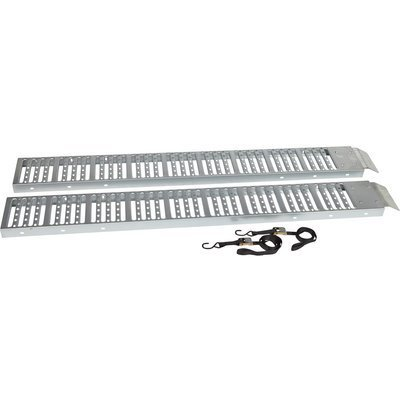 Ironton Non-Folding Steel Ramps - Pair, 6ft.L x 9in.W, 500-Lb. Capacity Per Ramp