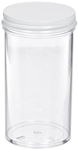 School Speciality Plastic Jar with Lids, 250mL Capacity (Set of 8)