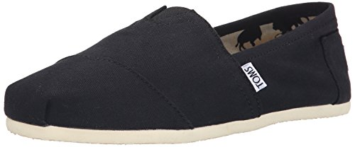 Toms Canvas Alpargata Flat (Womens)-Black-7.5 M US by TOMS