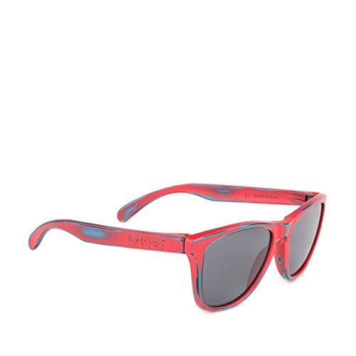 Oakley Skate Deck Frogskins Men's Limited Editions Lifestyle Sunglasses/Eyewear - Matte Red/Grey/One Size Fits All