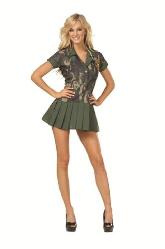 RG Costumes Plus-Size Camo Cutie, Green Camouflage, XX-Large (Convict Lady Plus Size Costume)