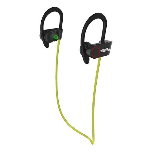 ALLIMITY Bluetooth Headphones Wireless Sports Earphones with Mic Sweatproof in Ear Earbuds Headset for Gym, Running, Cycling, Jogging(Green)[Upgraded Version] (Best Sports Headphones Uk)