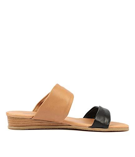 DK DJANGO Flat Sandals Womens JULIETTE BLACK Khaki LEATHER Summer TAN amp; Sandals Khaki HANS pzYPrxpwq