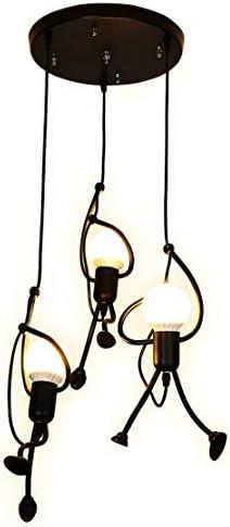 SOUTHPO Pendant Lighting Black Modern Creative Little People Mini Adjustable Hanging Light