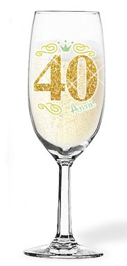 Flute in Vetro 30 ANNI - Bicchiere da Champagne - idea scherzo gaget festa, party - Champagne Glass Glitter - Per il brindisi di Compleanno, anniversario ecc. (30 ANNI) Dream' s Party