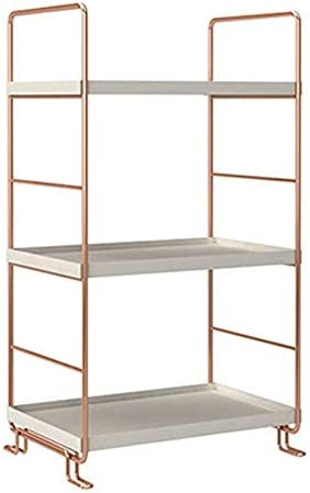 Stackable Organizer Shelf, Bathroom Countertop Storage Shelf, Cosmetic Organizer Holder Kitchen Spice Standing Rack