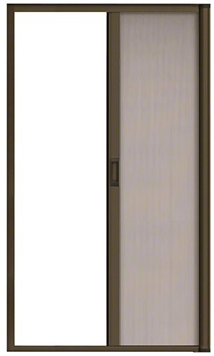 Bronze 84'' Euro Retractable Screen Door Kit by CR Laurence