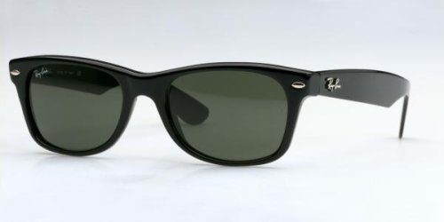 Ray-Ban NEW WAYFARER - BLACK Frame CRYSTAL GREEN Lenses 52mm - Ban Lenses Ray Polarized Green