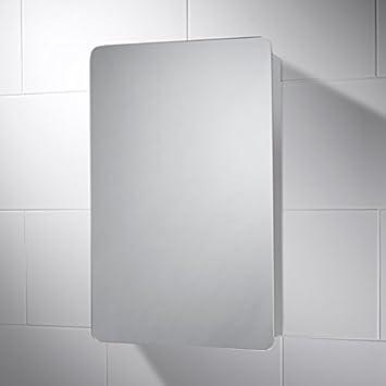 Pebble Grey Sorrel Spiegelschrank, Edelstahl, mit Ablage, BxH 40 x ...   {Spiegelschrank bad mit ablage 97}