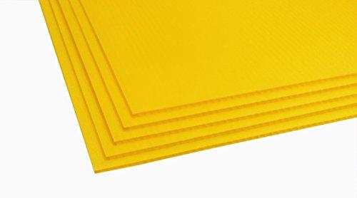 "TSM Coroplast Correx Poster Corrugated Plastics Sheets Sign Blank Board (24""x18""x4mm., 5-pack/yellow)"