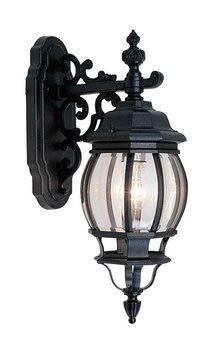 Unique Design 7706-04 Frontenac Exterior Lantern- Black