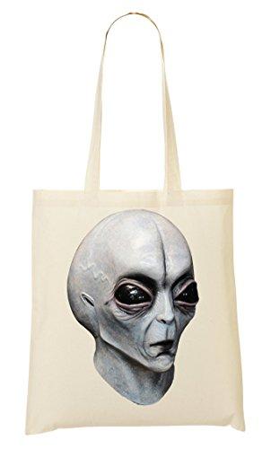 Alien Dummy Head Graphics Bolso De Mano Bolsa De La Compra