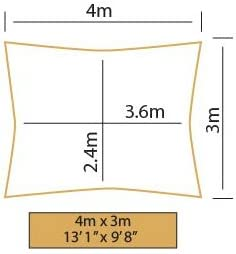 Kookaburra Waterproof Garden Sun Shade Sail Canopy in Terracotta 98/% UV Block 4m x 3m Rectangle