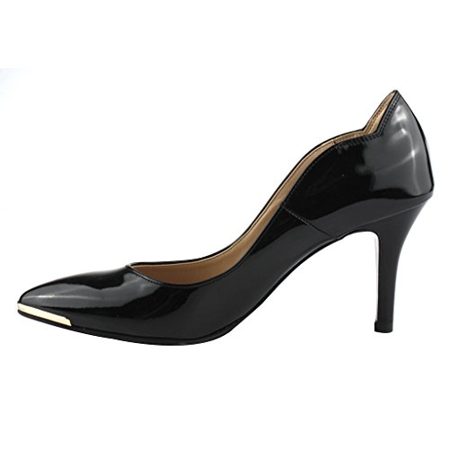 Che evoca Womens Lining Leather Pumps Shoes Black fp3FWm64N