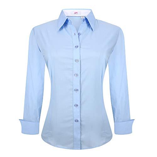 light blue button blouse - 3