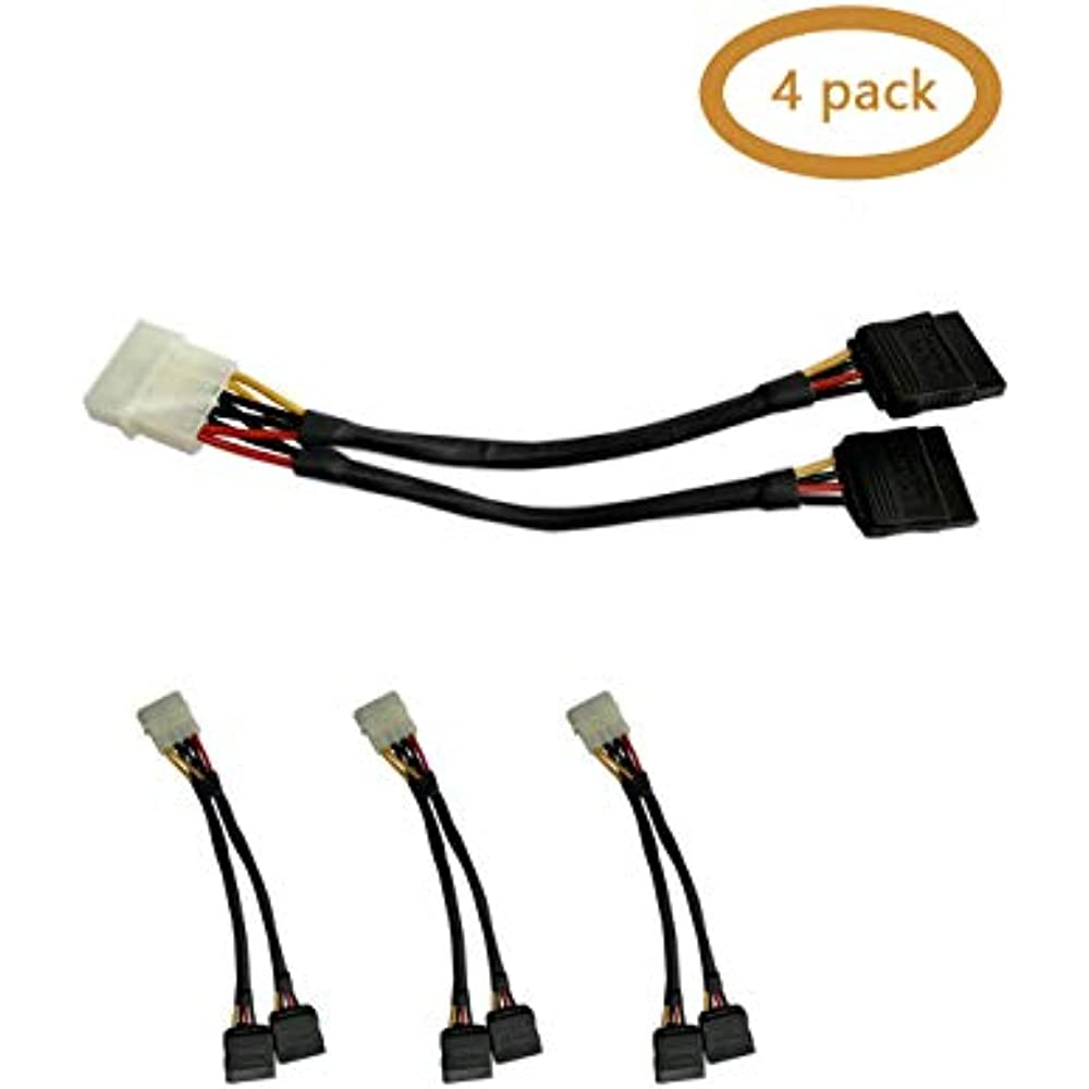 2 Pin to 15 Pin Female Power Cable 15 Inches
