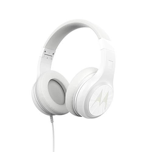 Motorola Pulse 120 – White – Over-Ear Headphones. Comfort fit, Enhanced bass