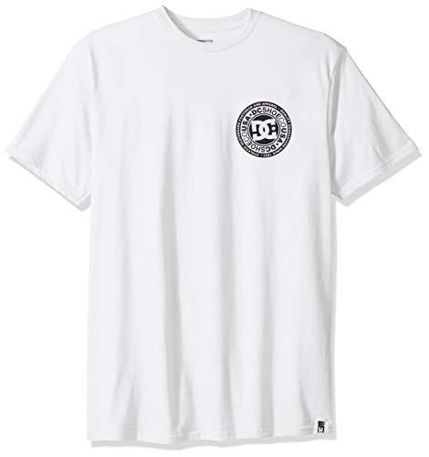 DC Men's Circle Star FB Short Sleeve TEE Shirt, Snow White, L