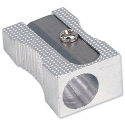 Brand New. 5 Star Pencil Sharpener Pocket-sized Metal for Max. Diameter 8mm Single Hole [Pack 5]