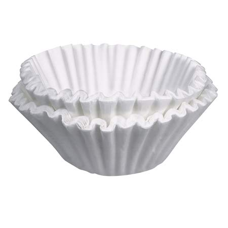 Tupkee Commercial Large Coffee Filters - 12-Cup Coffee Filters, 500-count, White - Compatible with Wilbur Curtis, Bloomfield, Bunn Coffee Maker Filters