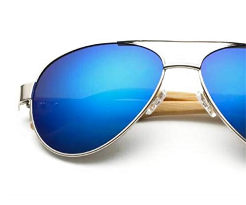 Lunettes air Cool de mode en voyager soleil unisexe en pêche UV400 de plein Huyizhi la conduite Silver soleil bois de protection lunettes de de lunettes Bw5dqEW