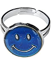 USport Special Girls Smiley Face Adjustable Color Changing Mood Ring Emotion Feeling Ring