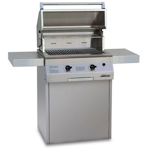 Solaire 27-Inch Deluxe InfraVection Natural Gas In-Ground Post Grill with Rotisserie Kit, Stainless ()