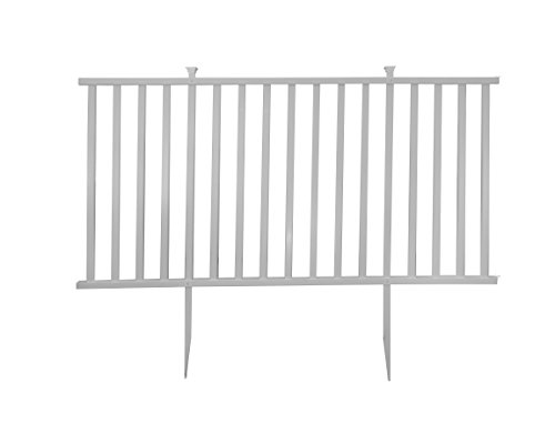 Zippity Outdoor Products Birkdale Semi-Permanent Vinyl Fence Kit, 48'' H x 92'' W, White by Zippity Outdoor Products