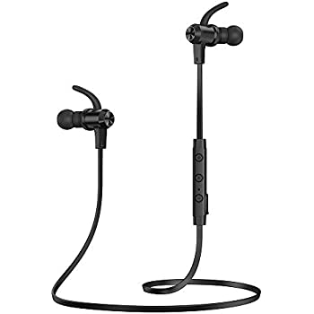 Bluetooth Headphones, TaoTronics Bluetooth 5.0 Wireless Earbuds Sports Earphones 9 Hours Playtime with IPX6 Waterproof, aptX Stereo, CVC 6.0 Noise Cancelling Mic