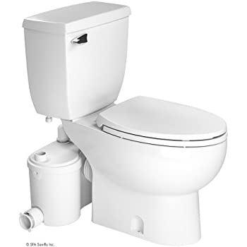 Saniflo SaniPLUS: Macerating Upflush Toilet Kit (with Standard Bowl ...