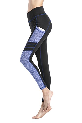 ants Sport Tights Workout Running Leggings With Side Pocket (M, Long Pants) (Long Tights)