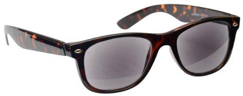 Marron UV Style tortue avec unisexe Lunettes UV400 Protection Wayfarer de UVSR007 Reader écailles soleil boîtier de FAqBa