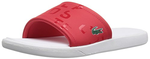 Lacoste Women's L.30 Slide 117 1 Fashion Sneaker Flip Flop, Red, 8 M US