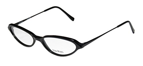 Vera Wang V47 Womens/Ladies Cat Eye Full-rim Eyeglasses/Eyeglass Frame (50-15-130, Black)