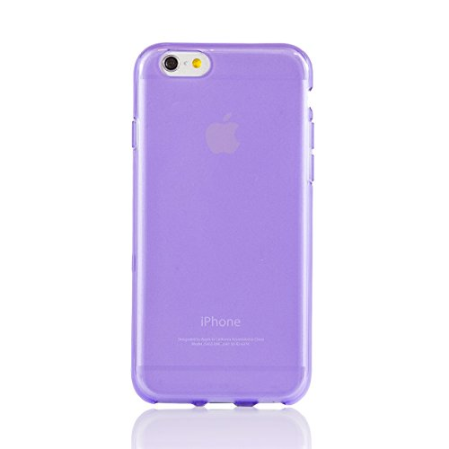 "iProtect housse de protection cuir synthétiquee flexible Soft Case transparent et Apple iPhone 6 (4,7"") en violet"