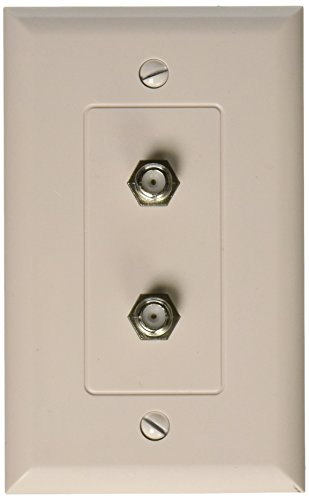 Dual F Connector Wall Plate - Morris 85121 Decorator Dual F Connector Wall Plate, 1 Piece, White