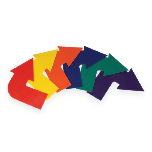 American Educational Products Curved Arrow Markers, Assorted Colors, Set of - Arrow Marker
