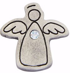 (Bob Siemon Designs Lapel Pin-Birthstone-Angel-October)
