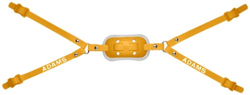 Gel Cup Football Chin Strap - Adams USA High Hook Up Gel 4 Point Football Varsity Chinstrap, Gold