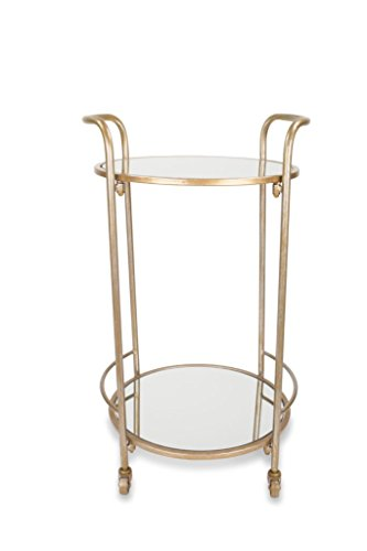 Jamesdar Katrine Brighton Bar Cart, Antique Gold Finish by jamesdar
