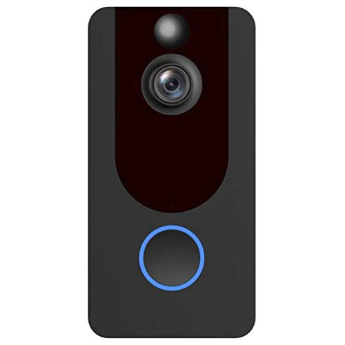 Pikewear V7 WiFi Video Doorbell with 1080p Camera and Wireless Intercom   Remote Monitoring  Alarm  Motion Detection  Cloud Storage  Battery Operated