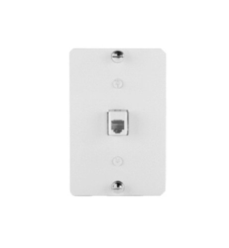 Legrand - On-Q WP2002WH 1Gang 6P6C RJ25 Terminating Wall Phone Plate