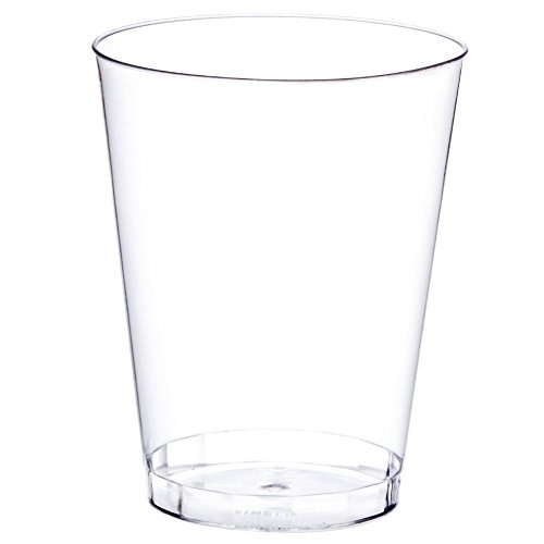 Premium Quality Plastic Cups (8 oz. 20 Pack) - Party Shot Glasses - Break-Resistant/Stackable Restaurant Tumbler Beverage Cup - Perfect for mixed drinks/cocktails, wine, beer, water, soda, juice