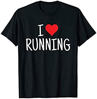 Cool Gift Running  I Love Running Heart Run Jog Race Women Long Sleeve Funny Shirt / Navy / S - 5XL