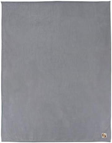 Linnea Couverture Polaire Luxe 240x260 cm 100% Polyester 430 g/m2 Narvik Gris Acier
