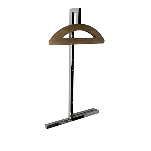 Wall Valet - Hey! Valet Wall Mounted Clothes Garment Hanger, Polished Chrome