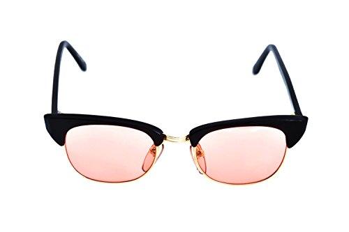 Roberto Elliot Sunglasses Frame SM-SETH Brown/Gold Rose Lens 48-20-137 Made in - Seth Sunglasses