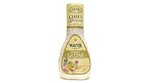 Ken's Steak House Chef's Reserve Creamy Caesar with Roasted Garlic Dressing (Pack of 3) 9 oz (Creamy Roasted Garlic)