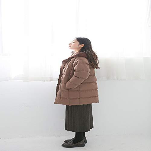 Deux pièces Nouvel Moyen Manteaux Veste long Outwear Coton Ouatinée Fxchen S Matelassé Lâche Hiver Faux Femme En Capuche EqxwX1Y