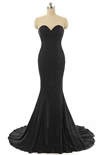 Baijinbai Damen Kleid schwarz schwarz